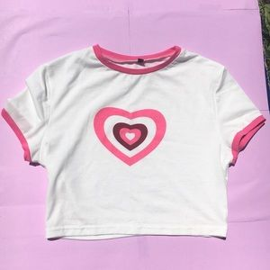 SUPER CUTE Y2K HEART TOP!!